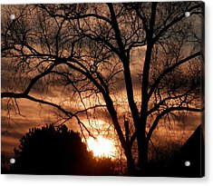 A Wisconsin Sunset Acrylic Print by William Presley