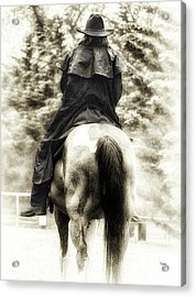 A Woman And A Horse  Acrylic Print by Steven Digman