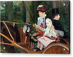 A Woman And Child In The Driving Seat Acrylic Print by Mary Stevenson Cassatt