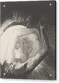 A Woman Clothed By The Sun Acrylic Print by Odilon Redon