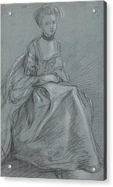 A Woman Seated  Acrylic Print by Thomas Gainsborough