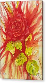 A Wounded Rose Acrylic Print