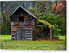 A Yellow Cover Acrylic Print by Christopher Holmes