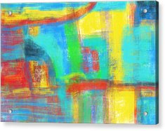 Acrylic Print featuring the painting A Yellow Day by Susan Stone
