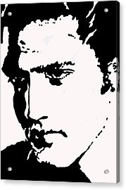 Acrylic Print featuring the drawing A Young Elvis by Robert Margetts