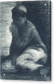 A Young Man Crouching Acrylic Print