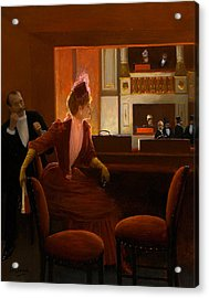 A Young Woman At The Opera Acrylic Print