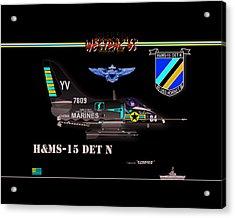 A4-c Skyhawk Vsf Acrylic Print by Mike Ray