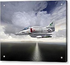 A4 Feet Wet Acrylic Print by Mike Ray
