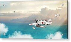Acrylic Print featuring the digital art A6m2-n Sea Plane by John Wills