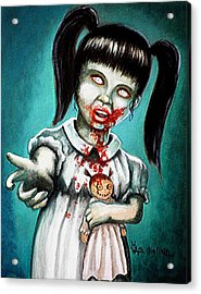 Aaarrgg Thats Zombie Talk For Mommy Acrylic Print by Al  Molina
