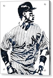 Aaron Judge New York Yankees Pixel Art 2 Acrylic Print by Joe Hamilton