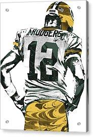 Aaron Rodgers Green Bay Packers Pixel Art 6 Acrylic Print