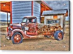 Abandon Truck On Route 66 Acrylic Print