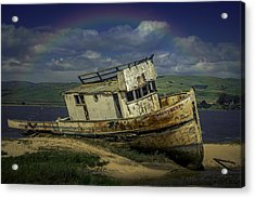 Abandonded Old Boat Acrylic Print