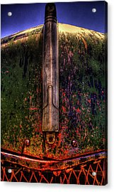 Abandoned 1937 Chevrolet Coupe Hood Detail Acrylic Print