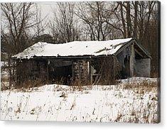 Abandoned And Cold Acrylic Print by Elaine Mikkelstrup