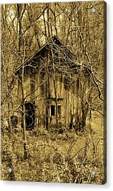 Abandoned Barn In Woods Acrylic Print