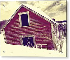Abandoned Barn Acrylic Print by Mindy Sommers
