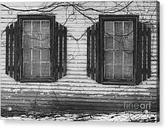 Abandoned Black And White Acrylic Print by Katie W