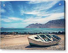 Abandoned Boat Acrylic Print by Delphimages Photo Creations