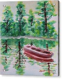 Abandoned Boat Acrylic Print by Remegio Onia
