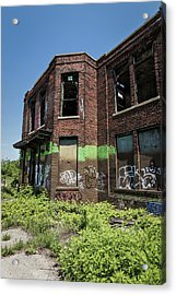 Abandoned Building With Graffiti Acrylic Print