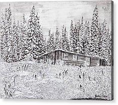 Abandoned Cabin Acrylic Print