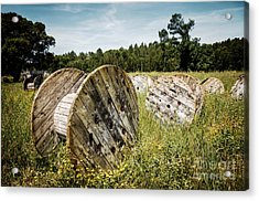 Abandoned Cable Reels Acrylic Print