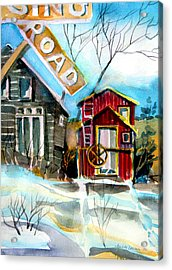 Abandoned Caboose Acrylic Print by Mindy Newman