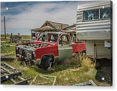 Abandoned Car And Trailer In The Ghost Town Of Cisco, Utah Acrylic Print