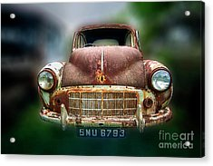 Acrylic Print featuring the photograph Abandoned Car by Charuhas Images
