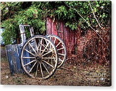 Acrylic Print featuring the photograph Abandoned Cart by Jim and Emily Bush