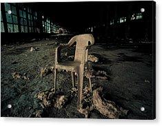 Abandoned Chair Acrylic Print by Luka Matijevec