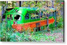 Abandoned Church Bus Acrylic Print