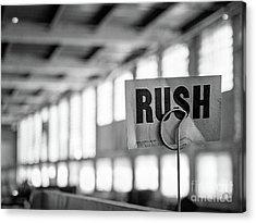 Abandoned Factory, Lewiston, Maine  -48683-bw Acrylic Print