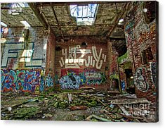 Acrylic Print featuring the photograph Abandoned Factory Newport New Hampshire by Edward Fielding
