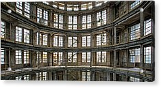 Acrylic Print featuring the photograph Abandoned Factory Tower - Panorama Industrial Decay by Dirk Ercken