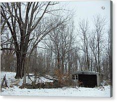 Abandoned Farm Acrylic Print by David Junod