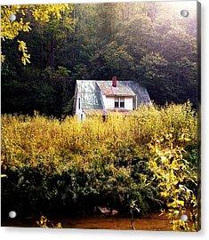Abandoned Farm Home Acrylic Print by George Ferrell