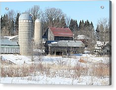 Abandoned Farm In Central Minnesota Acrylic Print by Laurie With