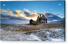 Acrylic Print featuring the photograph Abandoned Farm On The Snaefellsnes Peninsula by Alex Blondeau