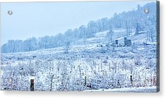 Abandoned Farm Winter Storm Acrylic Print by Randy Steele