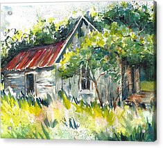 Abandoned Farmhouse In The Ozark Mountains On The Gravel Road To Hawk's Bill Crag At Whitaker Point Acrylic Print