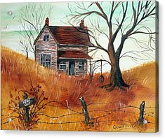 Acrylic Print featuring the painting Abandoned Farmhouse by Quwatha Valentine