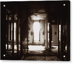 Abandoned Flophouse In Denver Acrylic Print by Lucas Boyd