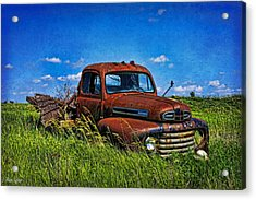 Abandoned Ford Truck In The Prairie Acrylic Print