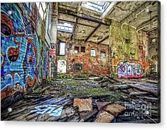 Acrylic Print featuring the photograph Abandoned Hartford Woolen Mill Newport New Hampshire by Edward Fielding