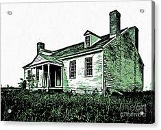 Abandoned Homestead Acrylic Print by Edward Fielding