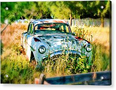 Abandoned Hotrod Acrylic Print by Michael Cleere